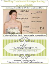 Wedding Coordination Packages Starting as low as $699