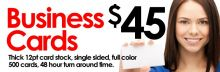 $45 Business Cards - CALGARY Image eClassifieds4u 4