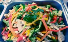 Delectable Pasta Salad with Roasted Chicken