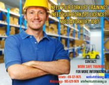Forklift Training + Certification (Licence) + Jobs