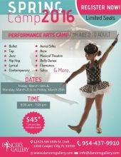 Spring Camp 2016 - Performance Arts Camp - Dancer's Gallery