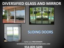 Professional Mirror REPAIR, Custom Mirror Wall Installation, Sliding Glas Door Replacement