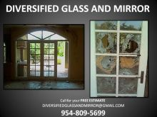 MIAMI + CORAL SPRINGS, FL:. WINDOW REGLAZING, GLASS RESTORATION, MIRROR REPAIR, IMPACT WINDOWS