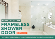 Frameless glass shower doors for sale