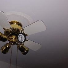 Higher end ceiling fan with 4 low energy lights