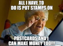 Get Paid to Mail Postcards!