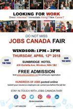 Windsor Job Fair – April 12th, 2018
