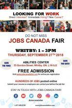 Whitby Job Fair – September 27th, 2018