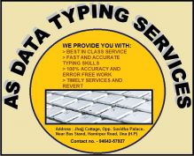 Accurate Typing Services Online and offline