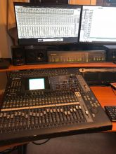 YAMAHA 02R96 DIGITAL RECORDING / LIVE MIXING CONSOLE W/ METER BRIDGE