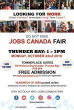 Thunder Bay Job Fair - October 22, 2018