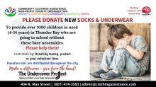 Donate 'New' Socks & Underwear - Undercover Project