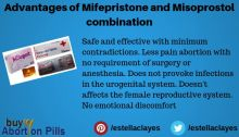 What are the advantages of mifepristone and misoprostol combination?