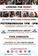 Peterborough Job Fair - 07 march 2019