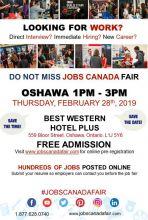 OSHAWA JOB FAIR - FEBRUARY 28TH, 2019