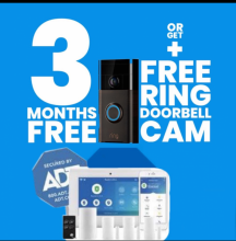 Free doorbell camera with ADT Home Monthly Monitoring